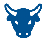 bull stock market icon